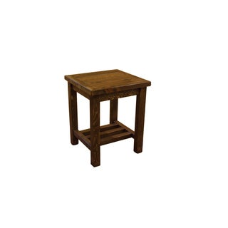 Barn Wood Style Timber Peg Open End Table/Nightstand - Amish made