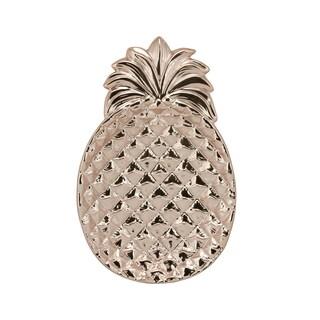 Rose Gold Ceramic 13-inch Pineapple Platter