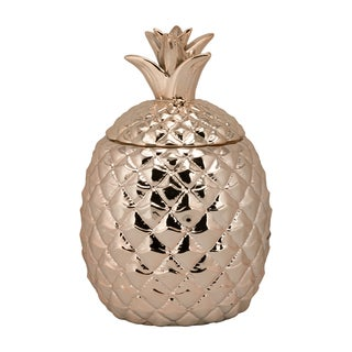 10 Strawberry Street Rose-gold Ceramic Pineapple Canister