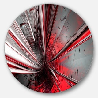 Designart 'Fractal 3D Deep into Middle' Abstract Art Circle Metal Wall Art (4 options available)