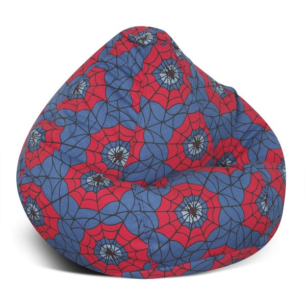Shop Large Print Bean Bag Spider Web Free Shipping Today