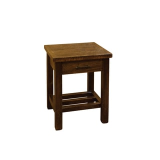 Barn Wood Style Timber Peg 1 Drawer End Table/Nightstand- Amish made