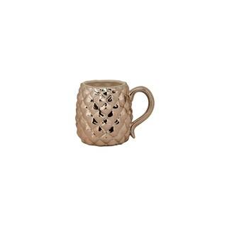 10 Strawberry Street Rose Gold Ceramic Pineapple Mug