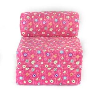Juvenile Studio Chair Sleeper - Pink Flower