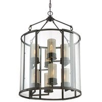 Varaluz Jackson 8-Light Rustic Bronze Foyer Pendant