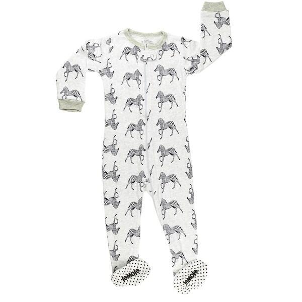210aed24d Shop Elowel Baby Boy s Footed  Zibra  Size 6M-5Years Pajama Sleeper ...