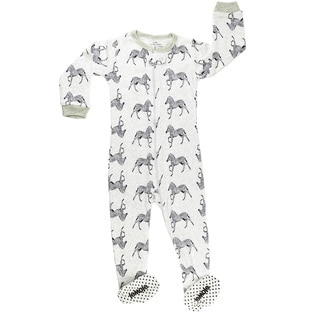 Elowel Baby Boy's Footed 'Zibra' Size 6M-5Years Pajama Sleeper