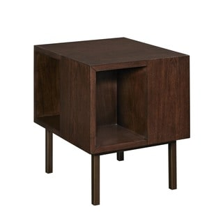 Contemporary Kelsey Cherry Brown Rectangle Accent Table
