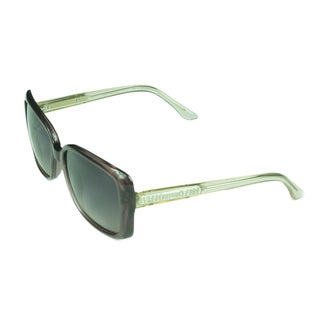 Guess Fashion Women's GU2021 PUR-58 Mauve Crystal Frame Polarized Gradient Grey Lens Sunglasses