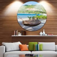 Designart 'Philippines Tropical Paradise' Landscape Photo Disc Metal Wall Art