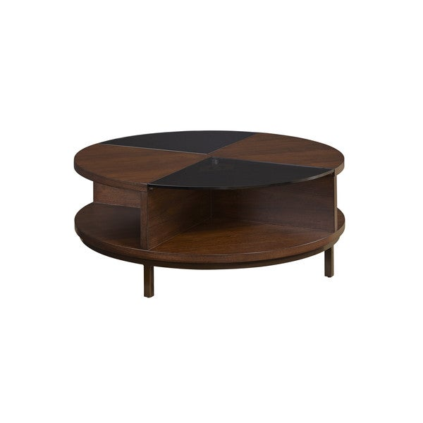 Contemporary Modern Kelsey Two Tone Round Coffee Table