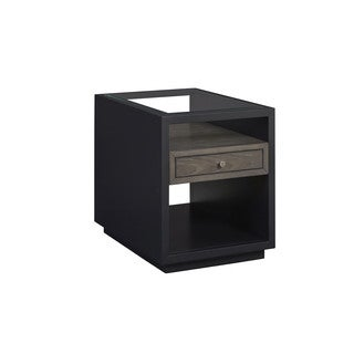 Contemporary Deegan Grey Two Tone 1-Drawer End Table