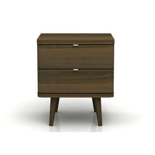DG Casa Alandra Walnut Veneer 2-drawer Nightstand