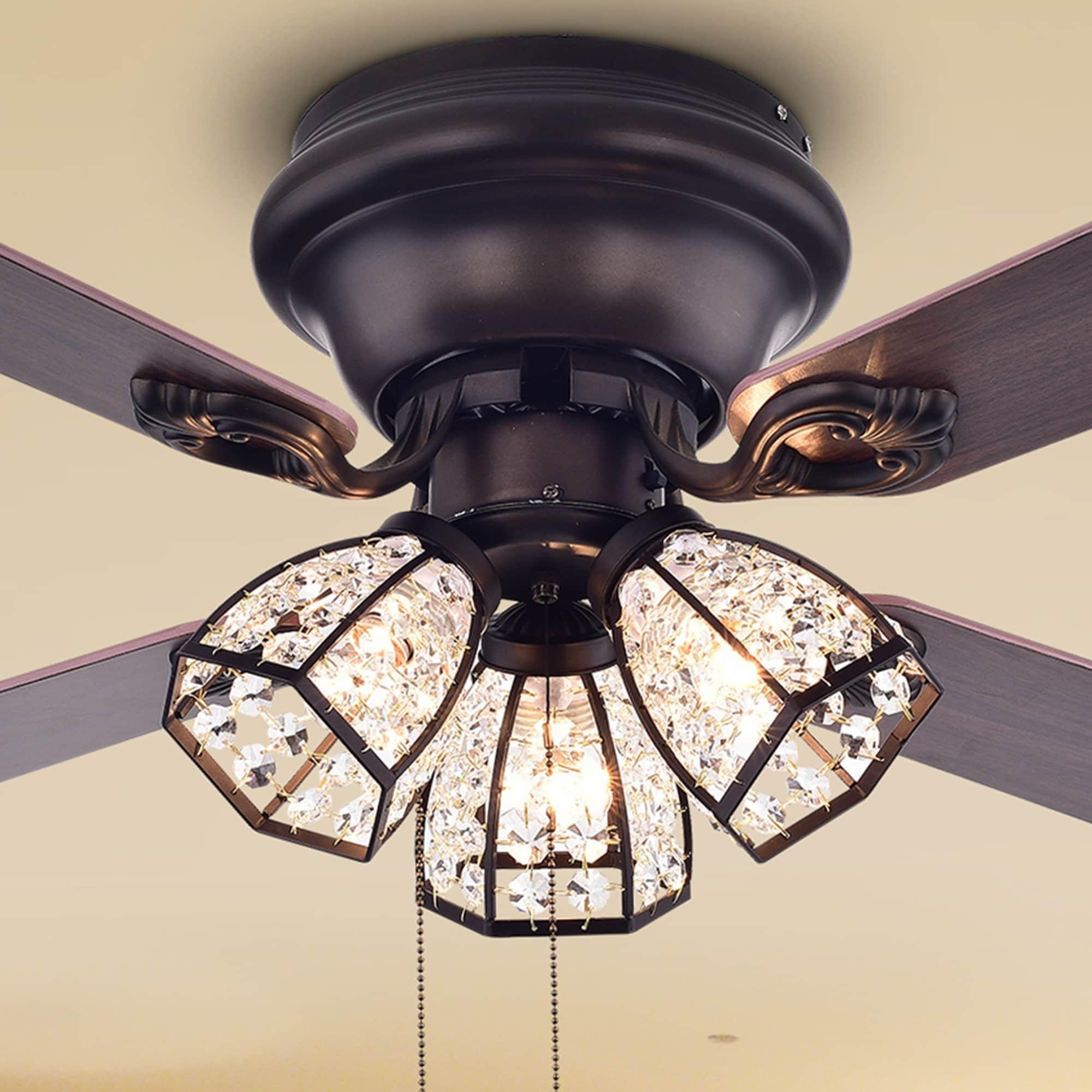 42 Inch 3 Light Lighted Ceiling Fan