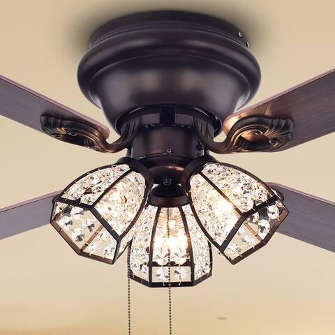 Tarudor 42-inch Antique Bronze 3-Light Ceiling Fan