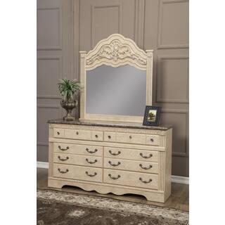 Sandberg Furniture Amalfi 6 Drawer Dresser And Mirror