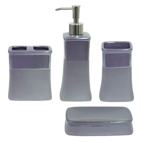 jessica simpson kensley purple bath accessories free shipping on orders over 45 overstockcom 20843384
