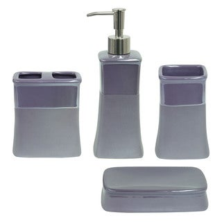 Jessica Simpson Kensley Purple 4-piece Bathroom Accessory Set