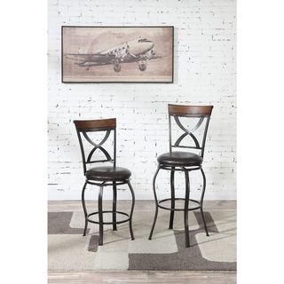 Lysander Counter Height Bar Stools (Set of 2)