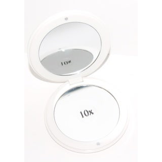Rucci Dual-Sided 10x/1x Magnification Round Foldable Mirror