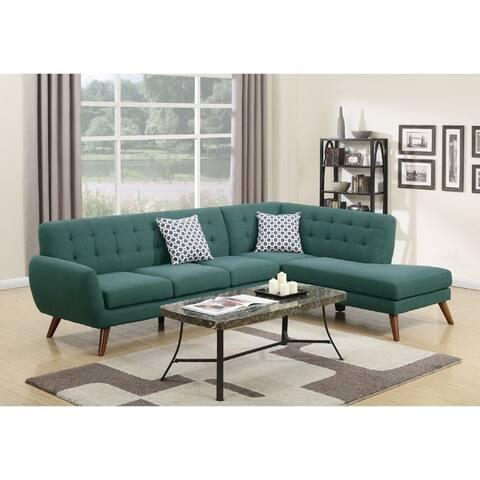 Vincent 2-PCs Mid Century Sectional Sofa Set