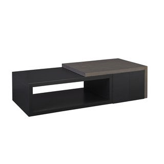 Contemporary Modern Deegan Grey Two Tone Coffee Table with Pedestal Boxes