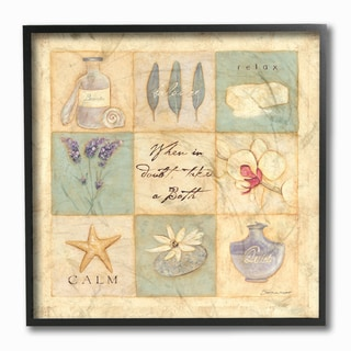 'When In Doubt, Take A Bath' Framed Giclee Texturized Art