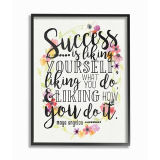 'Success is Liking Yourself' Framed Giclee Texturized Art