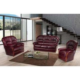 Park lane 4 piece burgundy leather living room set free for 10 piece living room set