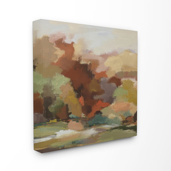 'Russet Autumn Forest' Stretched Canvas Wall Art