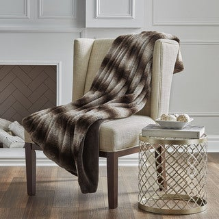 Serta Reversible Faux Fur Throw