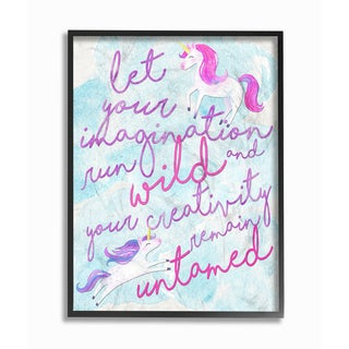 'Let Your Imagination Run Wild' Framed Giclee Texturized Art