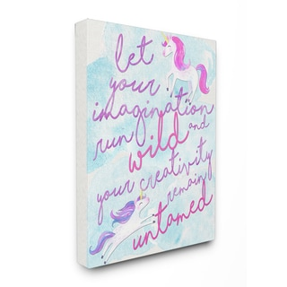 'Let Your Imagination Run Wild' Stretched Canvas Wall Art