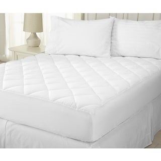 Home Fashion Designs Merida Collection Ultra Soft Seersucker Embossed Mattress Pad - White
