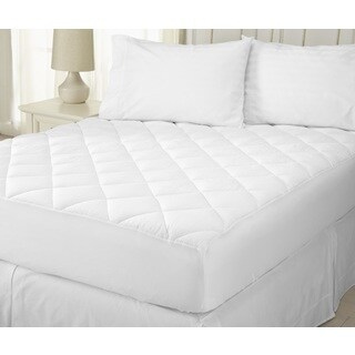 Home Fashion Designs Merida Collection Ultra Soft Seersucker Embossed Mattress Pad - White (4 options available)