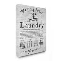 'Everything Laundry Vintage' Stretched Canvas Wall Art