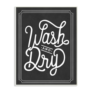 Stupell 'Wash and Dry Typography ' Wall Plaque Art