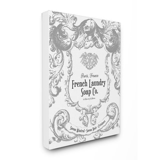 'French Laundry Soap Co Filigree' Stretched Canvas Wall Art