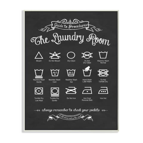 Stupell 'The Laundry Room Guide' Wall Plaque Art