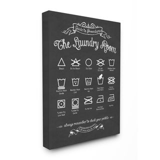 'The Laundry Room Guide' Stretched Canvas Wall Art