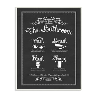 Stupell 'The Bathroom Guide' Wall Plaque Art