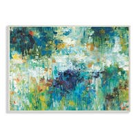 'Contemporary Reflections Blue Abstract Landscape' Wall Plaque Art
