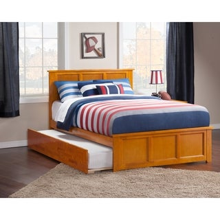 Atlantic Madison Caramel Latte Full-size Bed with Urban Trundle Bed