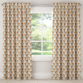 Skyline Vanves Cream Fabric Floral Curtain Panel