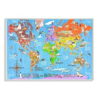 Stupell 'Our Big Beautiful World Map' Wall Plaque Art