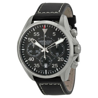 Hamilton Khaki Aviation H64666735 Men's Black Dial Watch