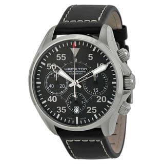 Hamilton Khaki Aviation H64666735 Men's Black Dial Watch|https://ak1.ostkcdn.com/images/products/14255822/P20843848.jpg?impolicy=medium