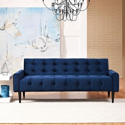 Porch & Den Echo Park Quintero Tufted Velvet Sofa
