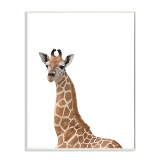 The Kids Room by Stupell 'Baby Giraffe' Studio Photo Wall Plaque Art