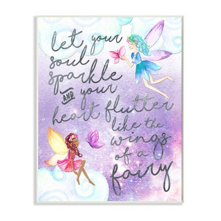 Stupell 'Let Your Soul Sparkle Fairies' Painting Wall Plaque Art